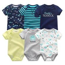 Ropa de unicornio para bebé, 100% de algodón de manga corta peleles, ropa para bebé recién nacido de 0 a 12M, ropa para bebé, ropa de bebé con estampado de unicornio 2019
