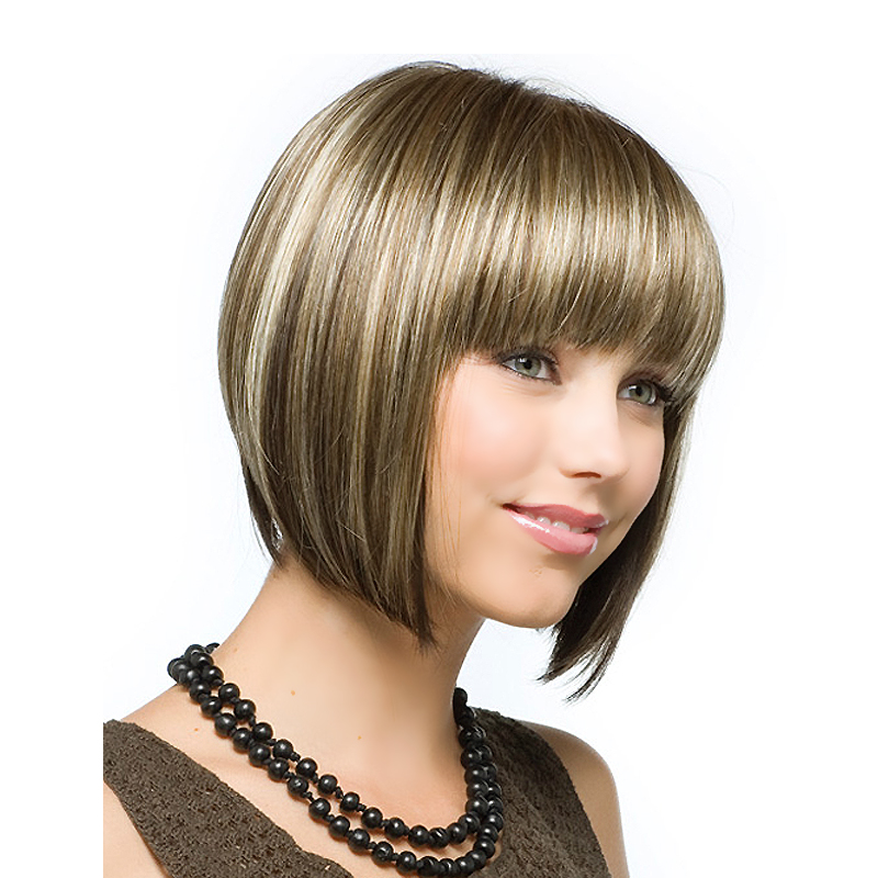 Silky Straight Short Wigs Blonde Natural Hair Bob Wigs