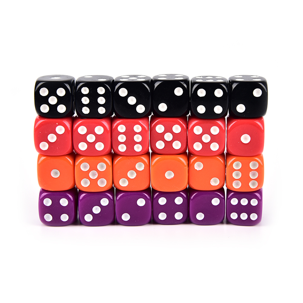 Pcs X Dices MM Rounded Corners Four Color Transparent Dice - Four corners drinking game