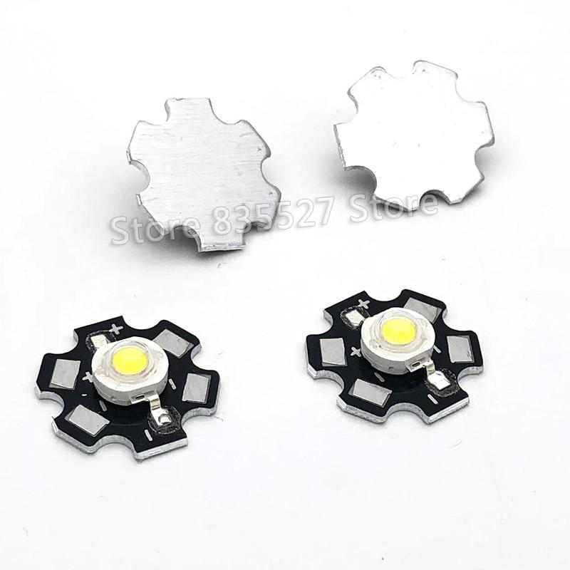 10pcs 3W White LED Heat Sink Aluminum Base Plate PCB Board Substrate 20mm For Parts / Flashlight / Bulb Spotlight DIY Lights LM