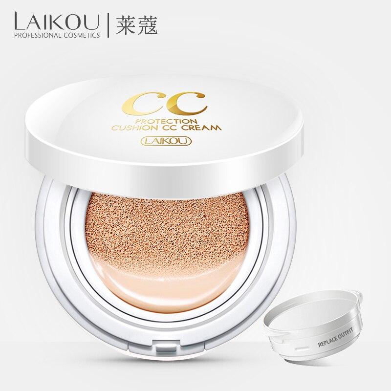 Marque LAIKOU Air Coussin Isolement CC Crème Coréen Cosmétique Hydratant Maquillage Contrôle de L'huile Acide Hyaluronique Blanchiment BB Maquillage