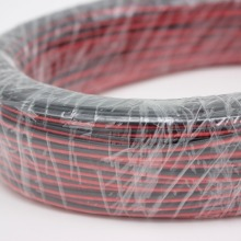 10/20/50/100 м/лот, 2pin красный черный кабель, луженая медь 22AWG, ПВХ изолированный провод, с кабелем электронного управления, LED кабель