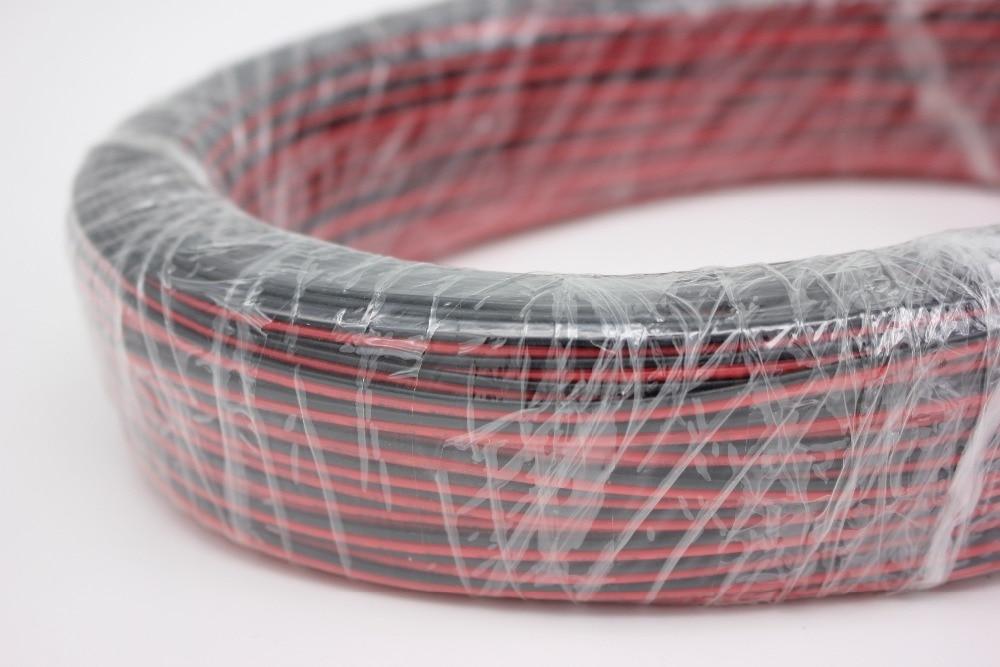 10/20/50/100 м/лот, 2pin красный черный кабель, луженая медь 22AWG, ПВХ изолированный провод, с кабелем электронного управления, LED кабель, бесплатная д...