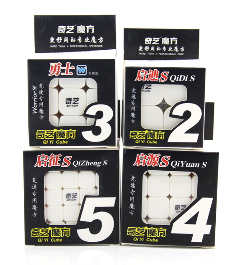 <font><b>QiYi</b></font> Warrior W 3x3 black Speed Cube <font><b>QiYuan</b></font> <font><b>S</b></font> <font><b>4x4</b></font> Stickerless QiZheng <font><b>S</b></font> 5x5 stickerless magic speed cube Puzzle image
