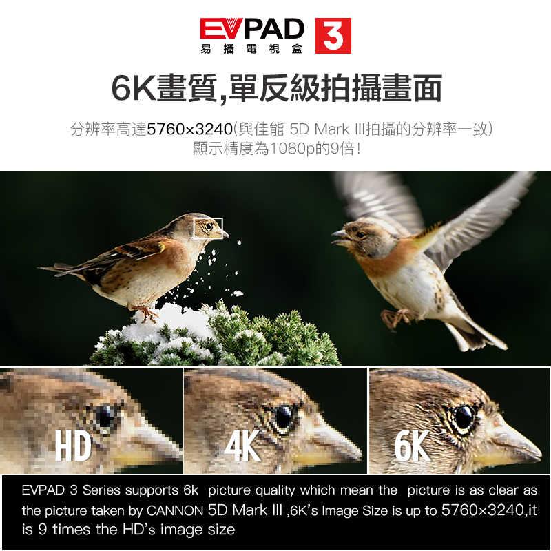 Darmowa iptv EVPAD3 tv box z darmo tv dla indonezji, HongKong, TW, korei, japonii, indian, singapur, malajski chiński fm evpad pro plus
