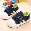 Babaya contrato de design da marca nova Primavera nova chegada listras lona macio boy girl baby first walkers toddle sapatos criança tênis
