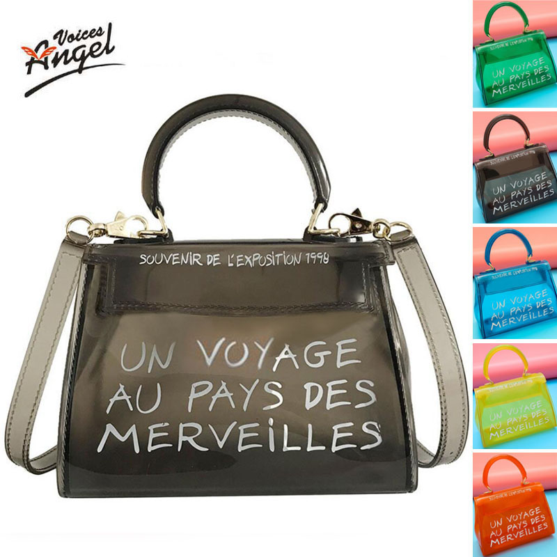 luxury brand transparent bag jelly handbag clear crossbody bags for women 2019 sac un voyage au pays des merveilles designer