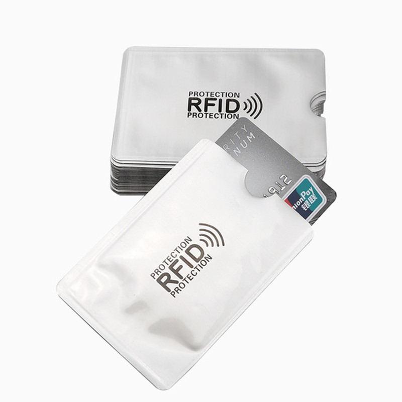 Anti Rfid Wallet Blocking Reader Lock Bank Card Holder Case Protection Aluminium