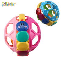 Jollybaby BPA Free Hand Grasp Bendy Ball Rattle Baby Teether Toddler Fun Colorful Flexible Activity Educational