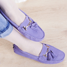 High Quality Genuine Leather Loafers Women Causal Fashion Women's Flats Spring Autumn Flats Plus Size Free Shipping