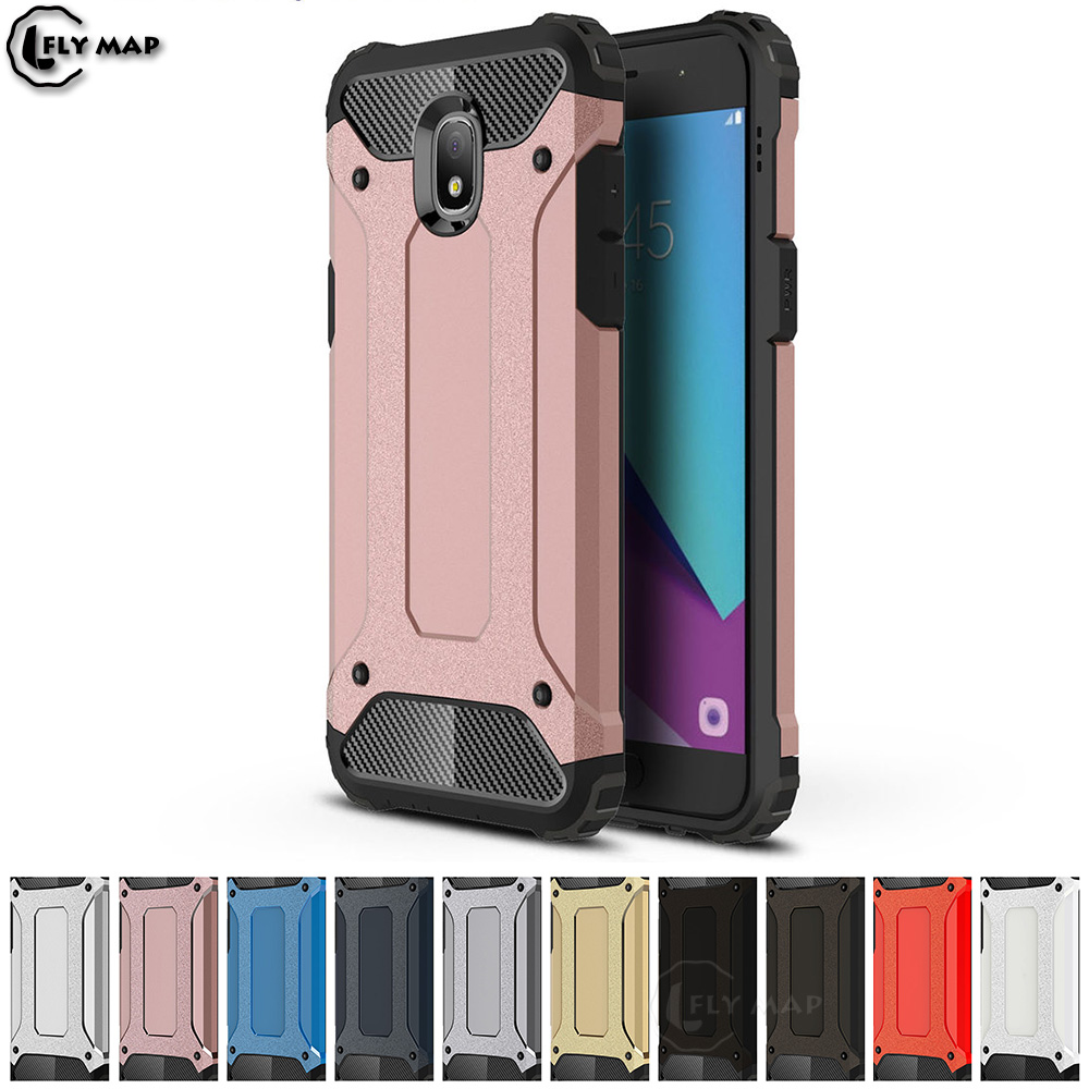 Armor Cover For Samsung Galaxy J3 2018 SM-J337 SM-J337T SM-J337A PC Silicon  Phone Case For Galaxy J