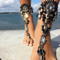 2016 New European Popular Exaggerated Jeweled Anklet Popular Personality DIY Alloy Factory Direct Design