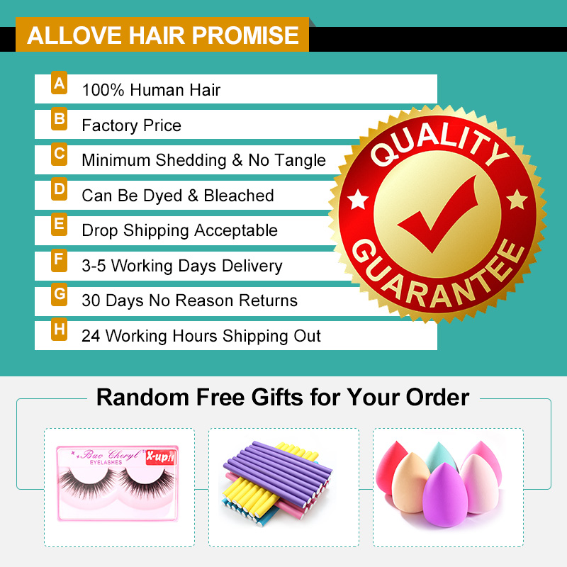 Image 3 - Allove Brazilian Straight Hair Bundles With Fontal Closure 100% Human Hair Weave Bundles with Frontal Wig Bundles with Frontal-in 3/4 Bundles with Closure from Hair Extensions & Wigs