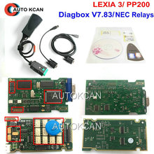 חם למכור Diagbox V7.83 קצי 3 סידורי 921815C הקושחה!!! Lexia3 PP2000 עבור Ci טראון עבור pe ugeot אבחון משלוח חינם