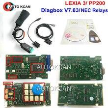 Горячая продажа Diagbox V7.83 lexia 3 серийный 921815C прошивка! Lexia3 PP2000 для Ci troen для Pe ugeot диагностическая Бесплатная доставка