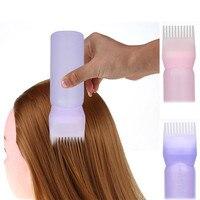 Hot Fashion Soft Bottle 2PCS Hair Dye Applicator Bottles Brush Dispensing Salon Hair Coloring Dyeing Hair Care Styling Tools New Health & Beauty