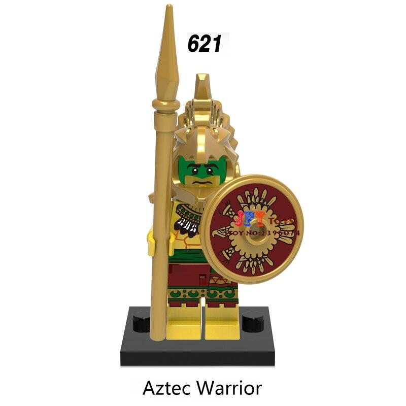 50pcs super heroes starwars models Aztec Warrior building blocks bricks friends hobby Gift toys for boys brinquedos menina