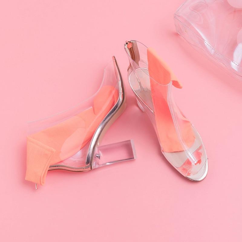Hauts Grande Bal Nouveau 2019 Femmes Taille Bottes Talons sliver Bottines Printemps Peep D'été Élégante Pvc De Gold Femme Asumer Chaussures Pour Toe Zip fvHqpHxwZ