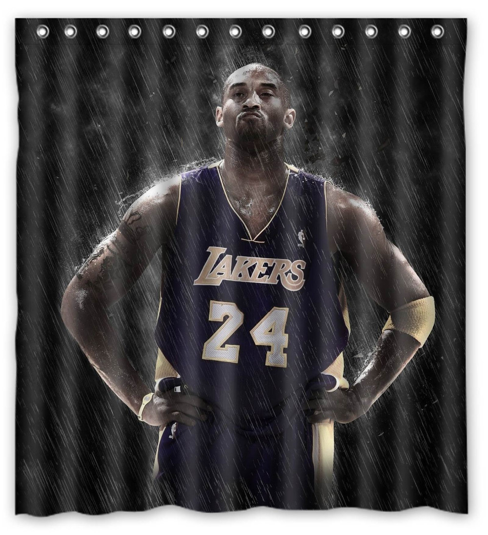 lakers shower curtain