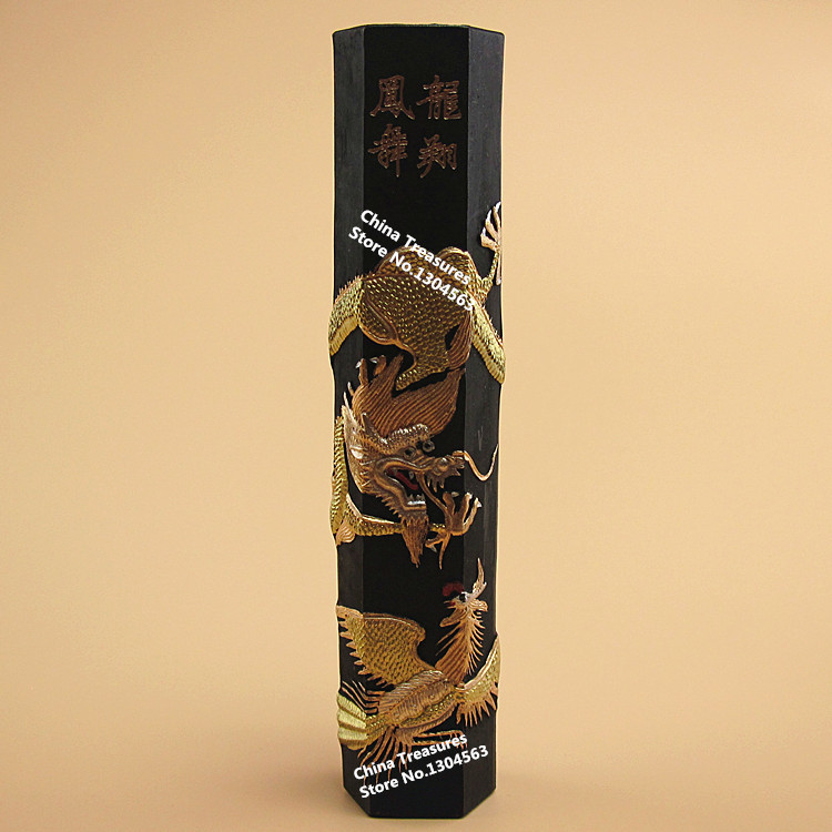Encre traditionnelle chinoise sumi-e encre solide Anhui vieille Hukaiwen encre chanson Yan calligraphie encre longue Xiang Feng Wu couleur noireEncre traditionnelle chinoise sumi-e encre solide Anhui vieille Hukaiwen encre chanson Yan calligraphie encre longue Xiang Feng Wu couleur noire