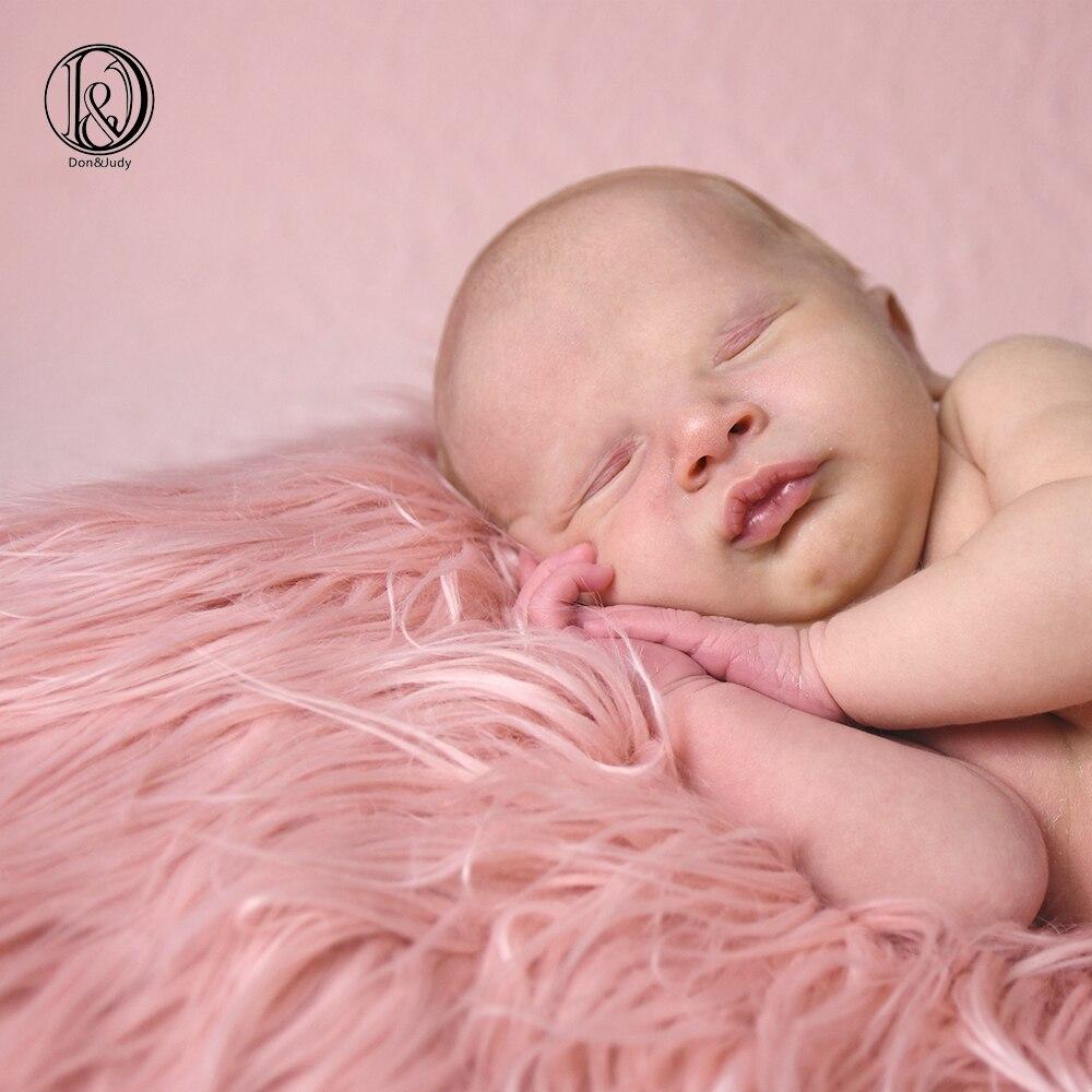 რბილი გრძელი წყობის ბეწვი, მრგვალი ბავშვის ფოტო საბანი დიანა 60 სმ ახალშობილთა ფოტოგრაფია Props BABY SHOWER GIFT