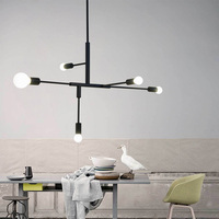 Nordic Modern Pendant Lights Fixtures Black & Gold Parlor Study Bedroom Suspension Luminaire E27 LED Light Bulb