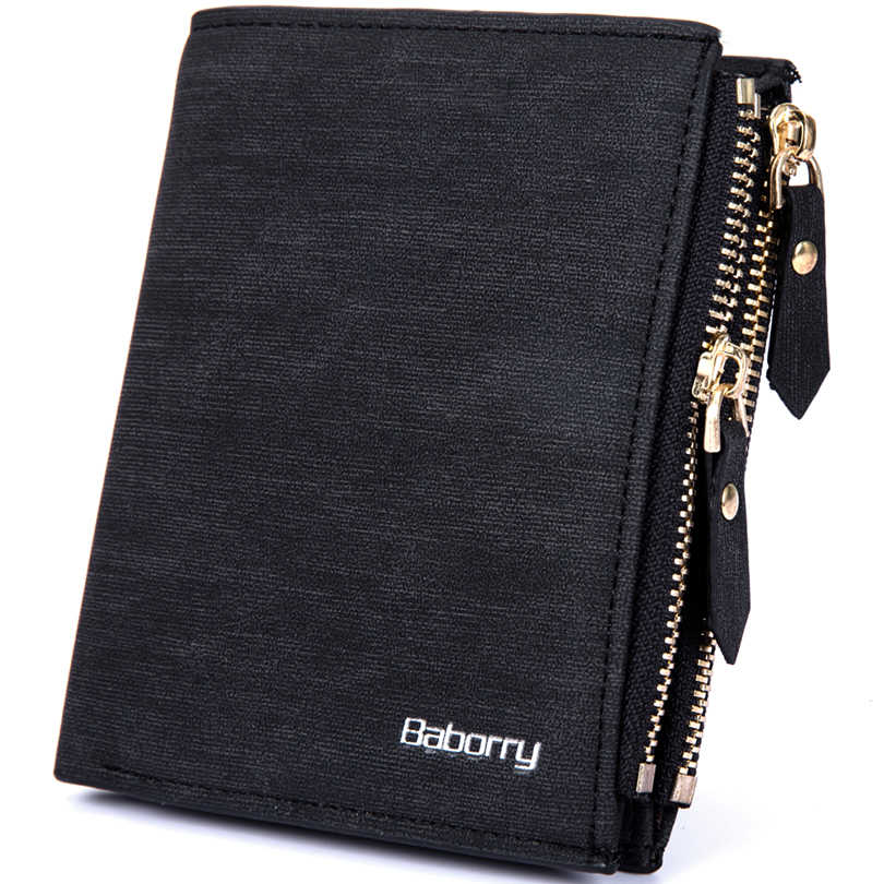 Wallet men double zipper mulitifunction purse leather wallet men purse credit card holders small card wallet !