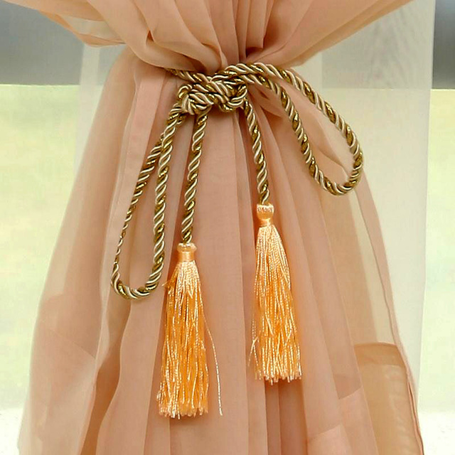 New Arrival Rope Curtain Tiebacks Tassels Fringe Tie Backs Holdbacks Window Drapes Supplies