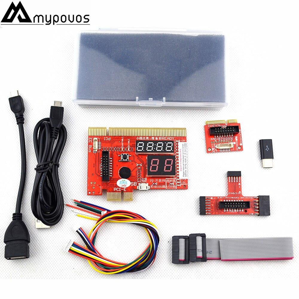KQCPET6-H V6 Type B 3 en 1 téléphone/ordinateur portable/ordinateur de bureau Test de Diagnostic universel Debug King carte postale pour PCI PCI-E LPC minipci-e EC