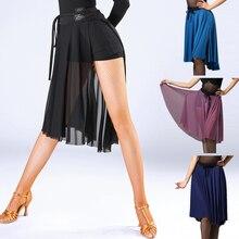 Moda damska spódnica do tańca latynoskiego na sprzedaż Waltz Tango sala balowa Sexy praktyka taniec spódnice treningowe wydajność nosi DL2559