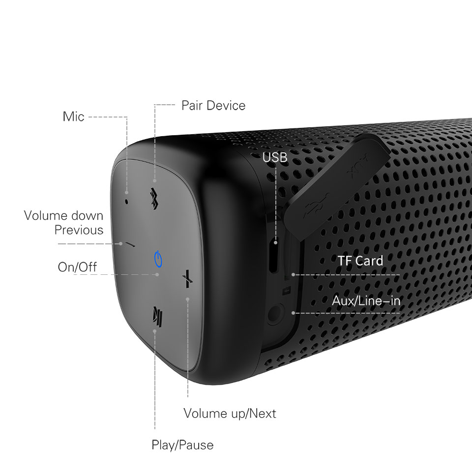 Cowin 6110 Mini Wireless Bluetooth 4.1 Portable Speaker With 16W Enhanced Bass And MP3 Player 10