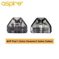 2 unids/caja Aspire AVP Pod 2ML capacidad vaina cartucho vapeador con ohm algodón/ohm bobina de cerámica cigarrillo electrónico atomizador