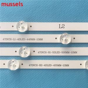 "Image 3 - LED Backlight strip For LG 47"" LCD TV 94cm 9 Lamp 47LA6200 47LN5400 6916l 1527a 6916l 1528A 6916l 1547A 1529A 6916L 1359A New"
