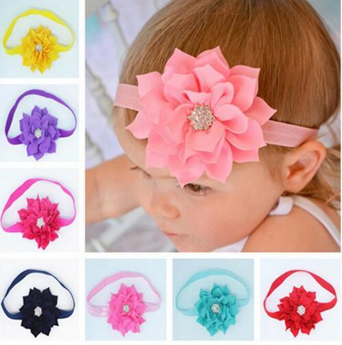 JRFSD2016 Nové děti Lotus Leaf odstavec Diamond dívky čelenka elastické vlasové pásky kojenecké dětské vlasové doplňky
