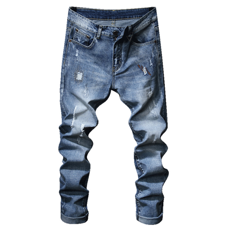 2018 Fashion New Mens Casual Stretch Jeans / Mans stovepipe pencil cow jeans denim pants trousers