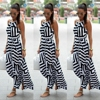 2017 Lace Women Patchwork Long Belt Summer Clothes Maxi Striped Party Women S Clothing Sleeveless Dresses