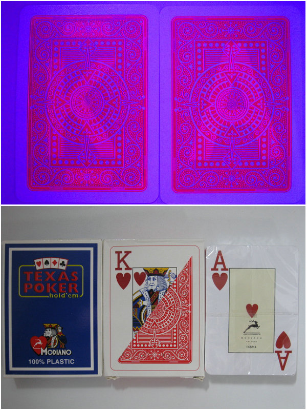 Magic poker home MODIANO Perspective poker plastic poker cards 88x63mm