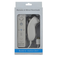 7 Colors Built in motion 2in1 for Wii remote & nunchunck For Nintendo Wii Gamepad/jostick/controller with Motion Plus