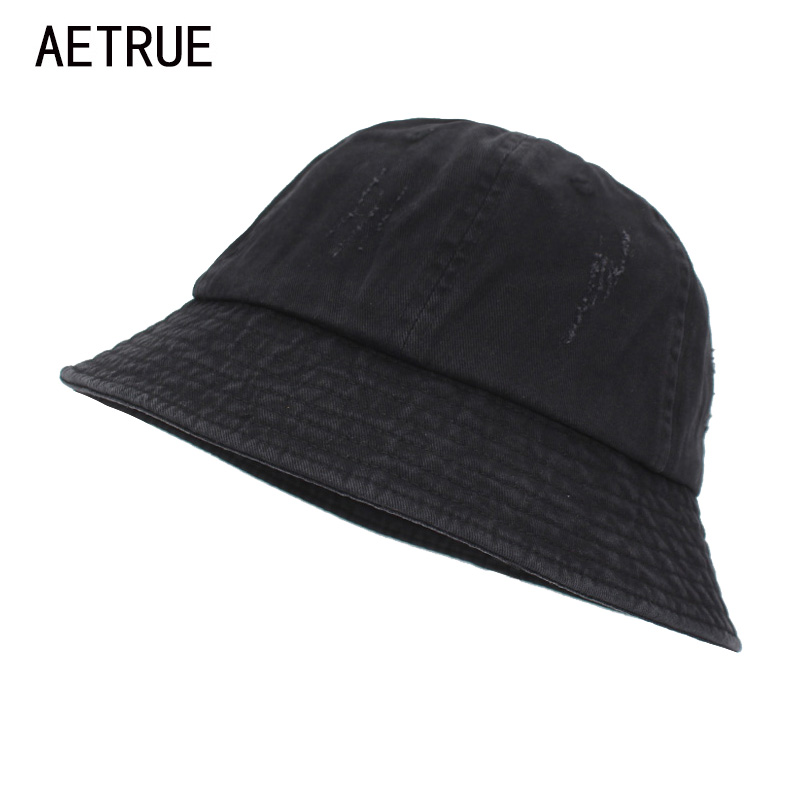 AETRUE Bucket sombreros mujeres blanco Bob gorras Panamá triste sombreros  planos para hombres Cap vintage lava 4974f711553