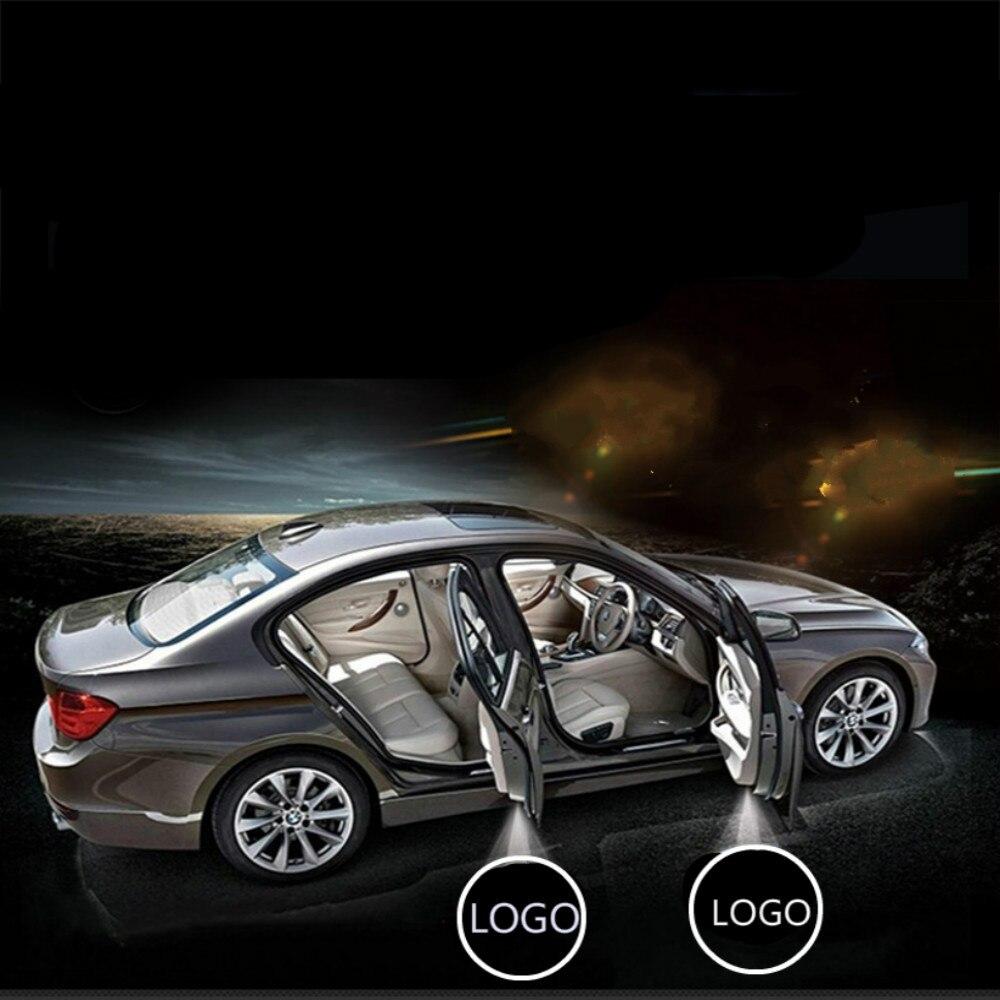 Jurus пара LED Беспроводной двери автомобиля Добро пожаловать логотип эмблема огни Нет дрель Тип знак для ford для Toyota большинство автомобили Лид...