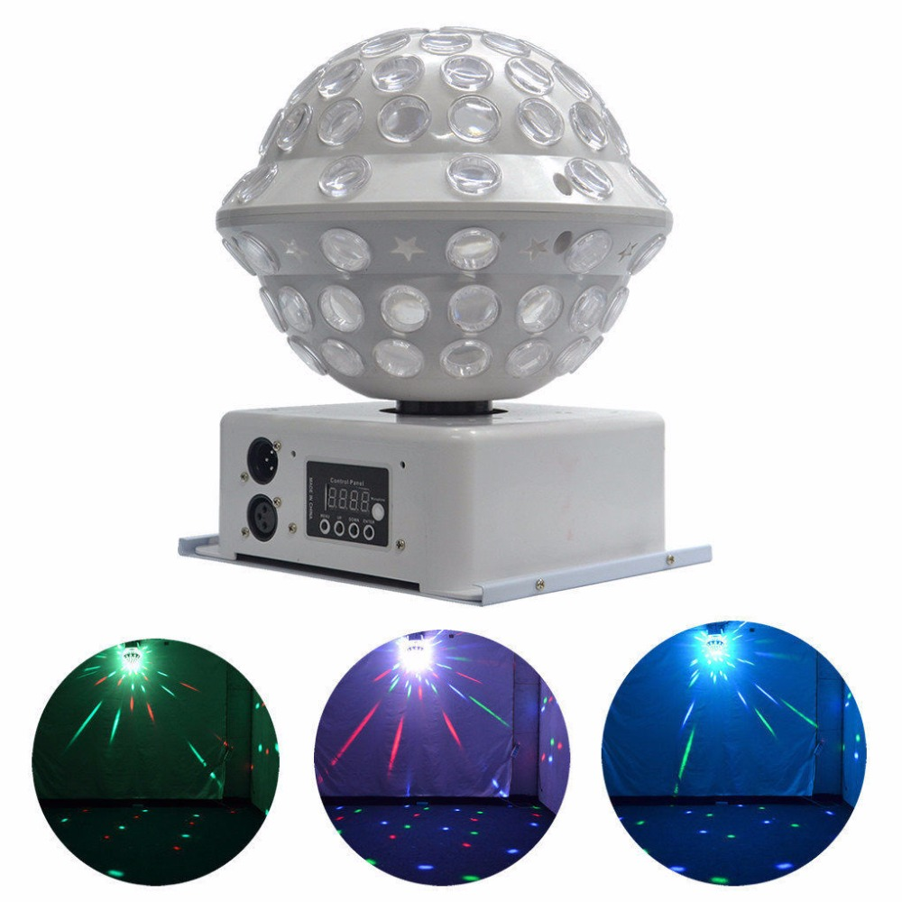 AUCD 360 Degree AUTO Rotated DMX 512 RGB Full Color LED Crystal Light Big Magic Ball Disco DJ KTV Party Home Stage Lighting MB-2 alluminum alloy magic folding table bronze color magic tricks illusions stage mentalism necessity for magician accessories