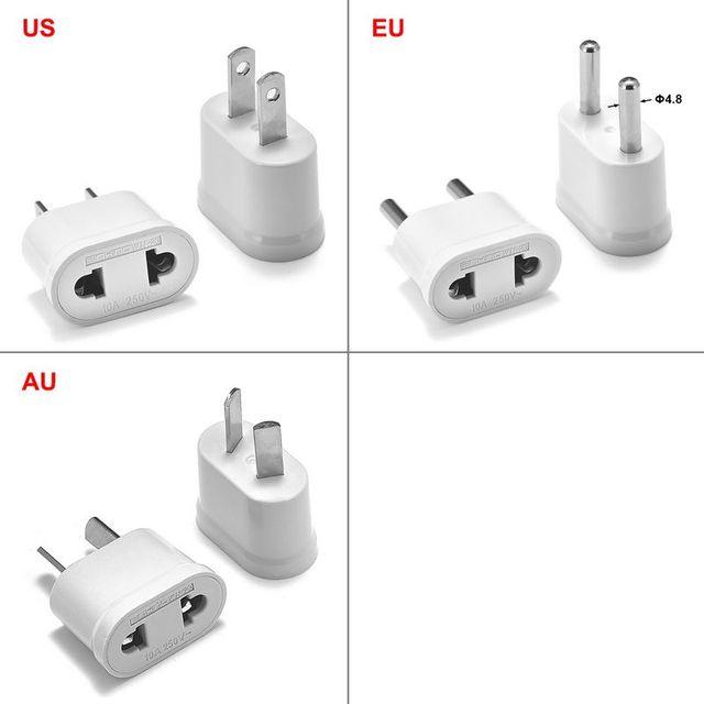 10 stücke Europäischen EU KR Stecker Adapter Konverter China UNS zu EU Euro Reise Adapter Elektrische Stecker AU Japan Power ladegerät Buchse
