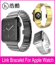 Haute Qualité Noir Or Argent Couleurs Lien Bracelet Bandes Apple Watch 42mm Bracelet En Acier Inoxydable Avec Fonction de Libération Rapide