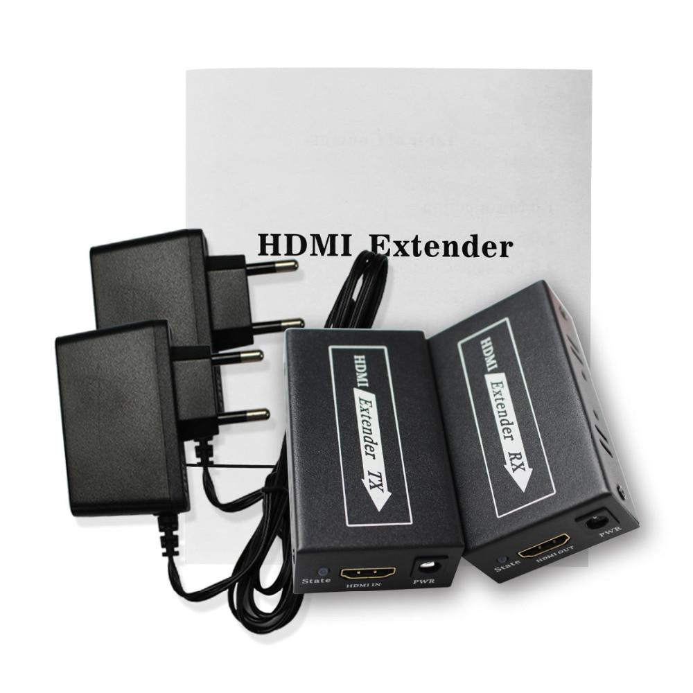 HDMI Extender Transmitter TX/RX 1080p 3D 60M CAT6 RJ45 Support 3D For TV Projector DVD