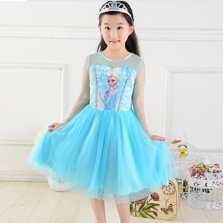 Kids Cosplay Costume Dress Cinderella Elsa Baby Girls: New 2014 Girls Elsa Dress Princess Dress Children Kids