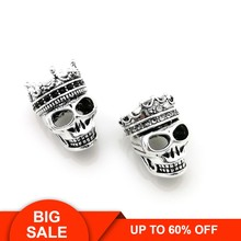 Thomas Skull King & Queen with Crown Pattern DIY Beads Fit TS Bracelet, Rebel Heart Style Jewelry Gift for Men and Women TS my(China)