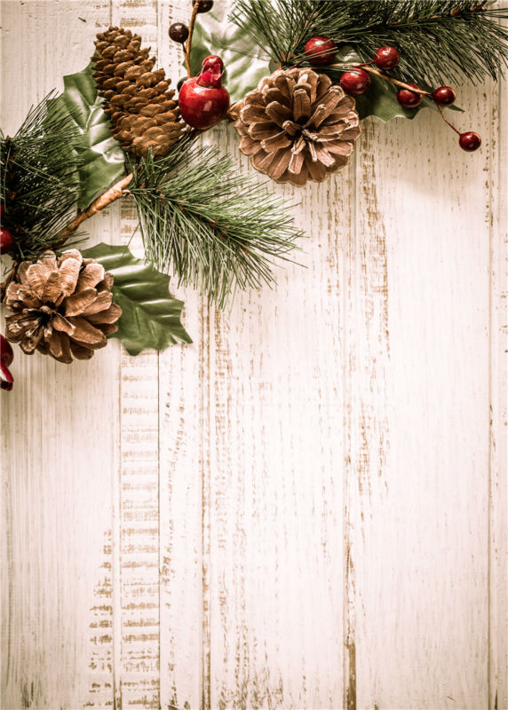 Christmas Photography Backgrounds Wooden Floor Vinyl Photo Backdrops Baby Studio Props 5x7ft or 3x5ft  JieQX511