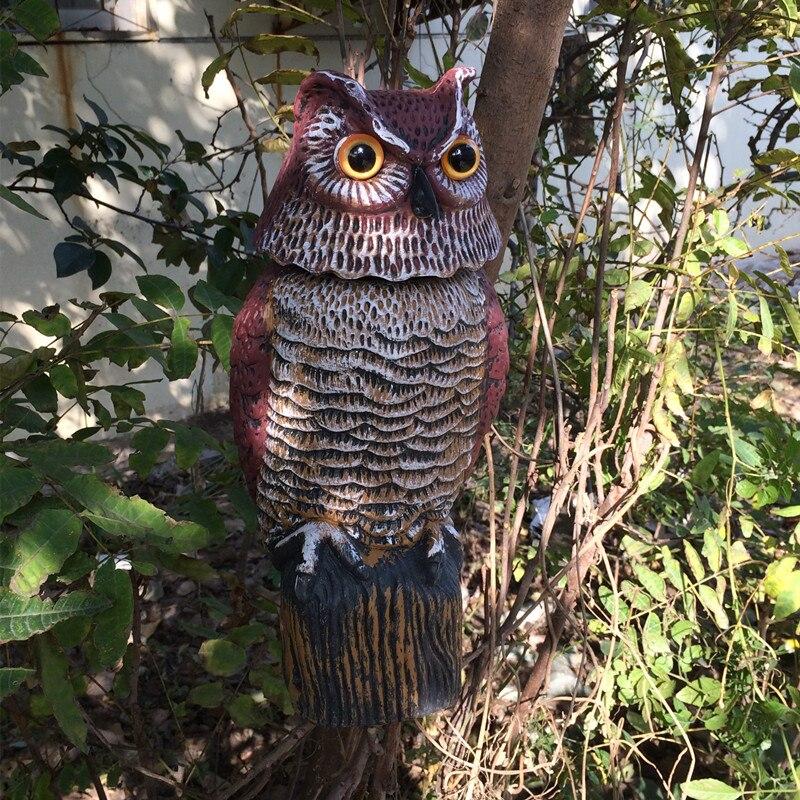 ZILIN Garden Defense Wind Action Owl /Bird Scaring Owl Decoy 17*17*38cm In  Figurines U0026 Miniatures From Home U0026 Garden On Aliexpress.com | Alibaba Group