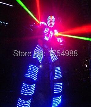 Светодиодный костюм одежда в африканском стиле праздничные вечерние поставки люминесцентный светящийся костюмы для выступления на сцене и Костюмы вечерние поставки