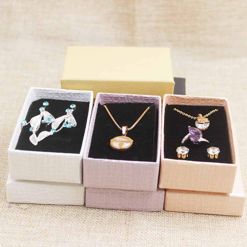 Us 13 78 35 Off 24pcs Multi Color Necklace Box Diy Jewelry Set Diaplay Box Cardboard Jewelry Charm Bracelet Ring Necklace Earring Display Box In
